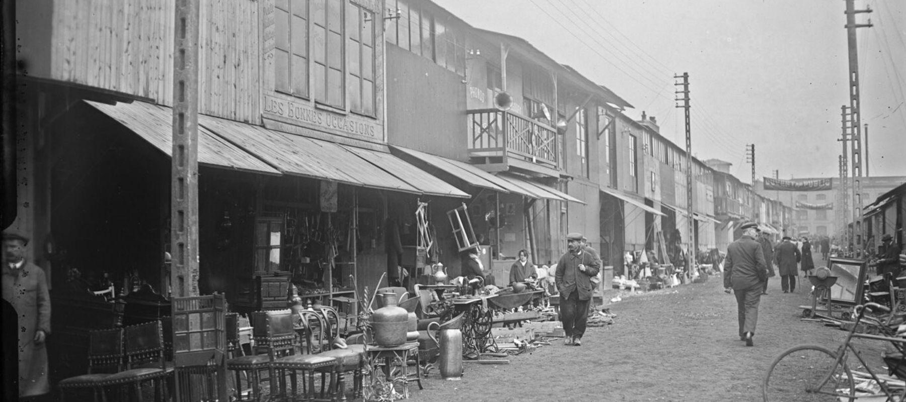 Les chiffonniers, premiers à investir les puces de Saint-Ouen devenues un lieu phare du tourisme et du design